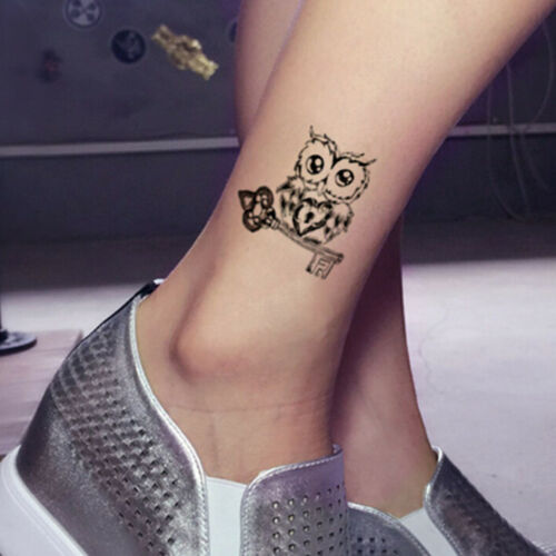 1pc Makeup Cute Owl Tattoo Arm Body Art Waterproof Temporary Tattoo