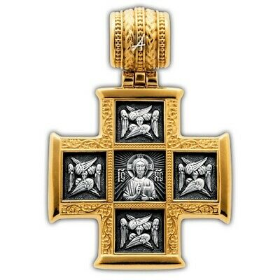 Cross Orthodox Lord Almighty the Great Martyr Panteleimon with scenes of life 2