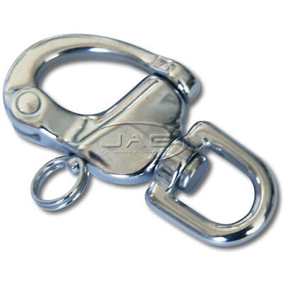70mm 316 STAINLESS STEEL SWIVEL SNAP SHACKLE - MARINE/SAILING/BOAT/YACHT/CARAVAN