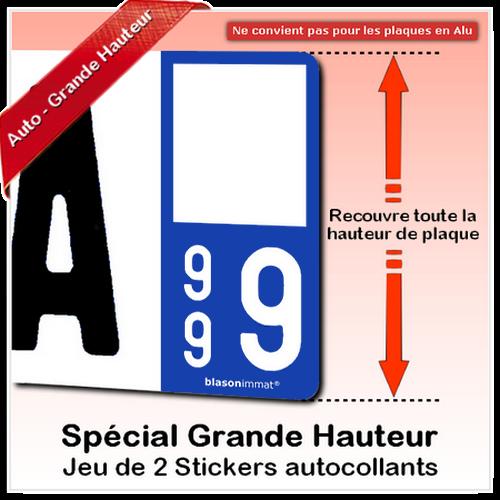 blasonimmat 2 Autocollants Plaque immatriculation Auto 06 Saint-Jean-Cap-Ferrat Armoiries