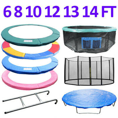 Trampoline Replacement Pad Padding Safety Net Cover Ladder Skirt 6 8 10 12 14Ft 2
