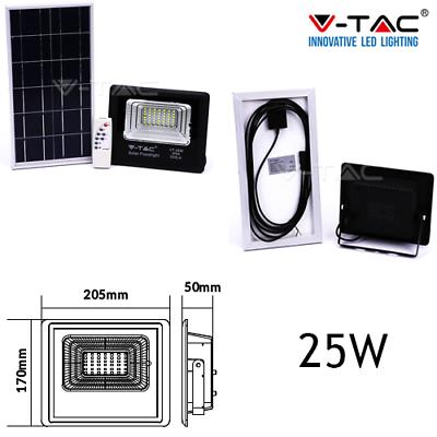 Faro Energia Solare Led Con Pannello Faretto Crepuscolare + Telecomando V Tac 5