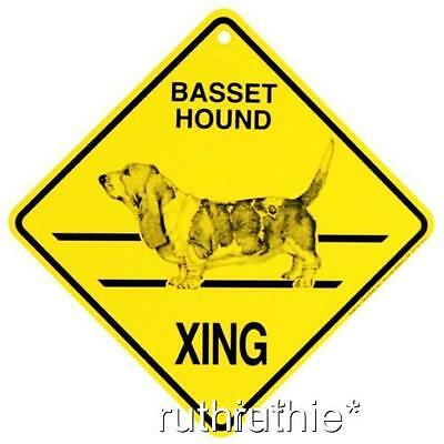 Basset Hound Dog Crossing Xing Sign New Made in USA