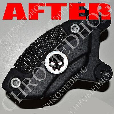 Brake Insert Medallion Decal Set for Harley Front Brembo Caliper Gray Skull W