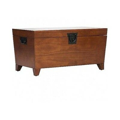 HOPE CHEST STORAGE Trunk Wood Bedroom Blanket Coffee Table Large Box ...