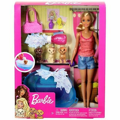 Barbie Doll GDJ37 Blonde and Playset with 3 Puppies and Accessories 7