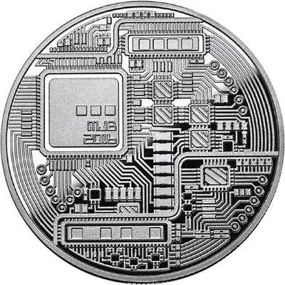 Bitcoin Proof 1 oz .999 fine Solid silver commemorative AOCS limited 2016 w/ COA 3