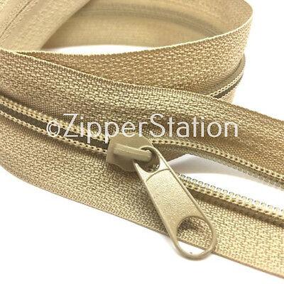 Sizes 3,5,8,10 includes 5 Slides, 5 meters BLACK Continuous Zip Zippers