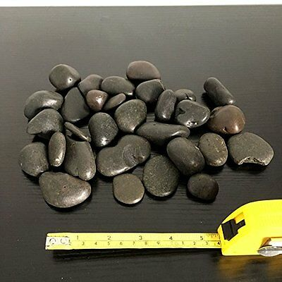 1kg New Black Natural Decorative Stones Pebbles Aquarium Decoration Vase Garden 7