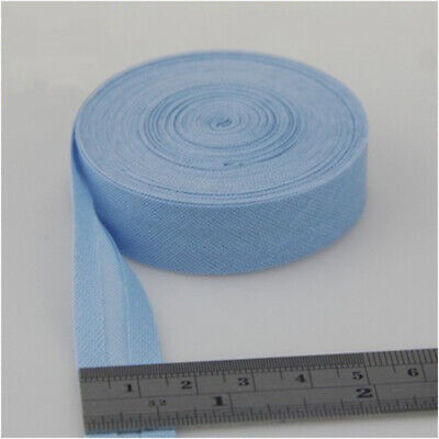 100% Cotton Bias Binding Tape Folded 16mm Wide 5/8 Inch Trimming/Edging/Quilting 5