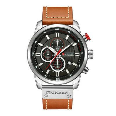 Curren Mens PU Leather Band Strap Wristwatch Sports Military Quartz Watch 8291 7