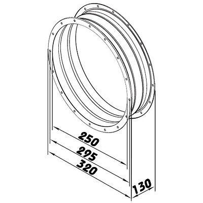 Vibrationsdämpfter Schwingungsdämpfer Wickelfalzrohr dalap FCGF Ø250mm 80077