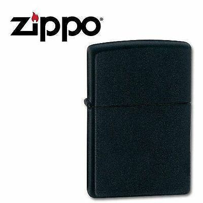 NEW Zippo 218 Black Matte Lighter with 118ml Fluids & Flints Gift Boxed Genuine 3