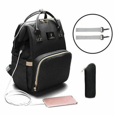 USB Interface Maternity Diaper Bag Mom Backpack Large Capacity Baby Nursing Bag 5