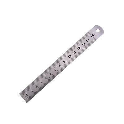 1PC Metric Rule Precision Double Sided Measuring Tool  15cm Metal Ruler Pip JB 3