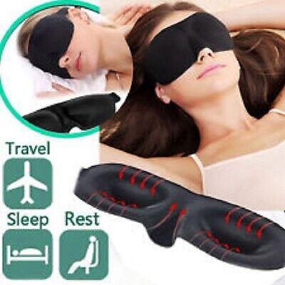 Masque de nuit sommeil 3D cache yeux Doux relaxation voyage anti lumiére fatigue 2