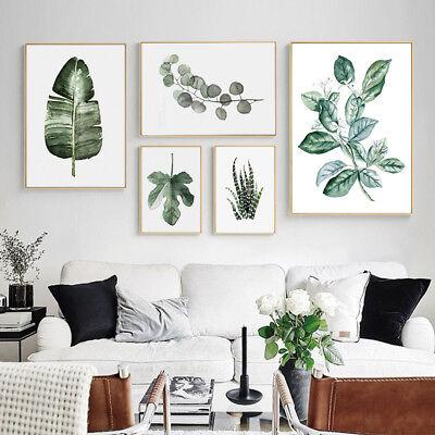 Tropical Plants Leaves Canvas Vintage Poster Wall Art Prints Modern Home Decor 2