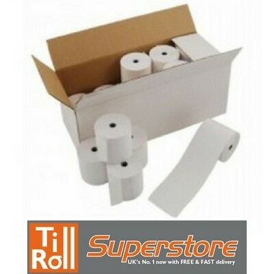 100 Rolls of 57x40mm Thermal Paper Credit Card Machine PDQ Till Rolls BEST PRICE 4
