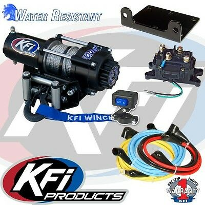 3000 lb KFI Steel Winch /& Mount Kit Combo Can-Am 2013-2016 Maverick 1000 R Turbo