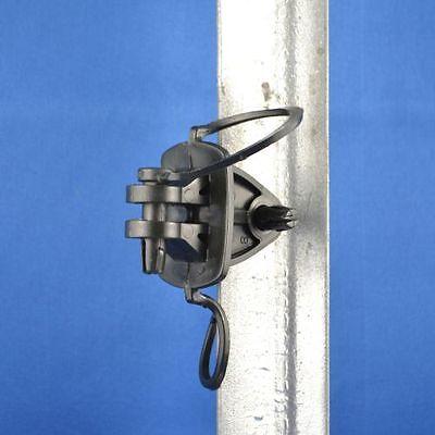 100 Electric Fence Insulator Pinlock Pin Lock Insulators Steel Post Star Picket 3