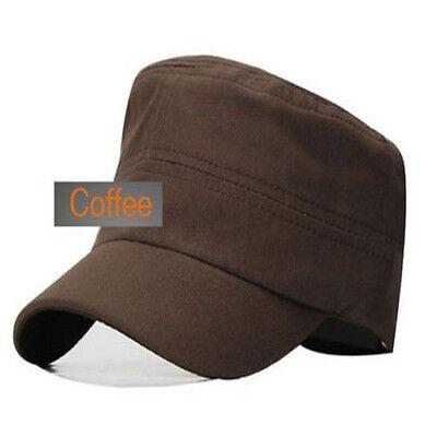 b3138c65b60 ... Classic Plain Vintage Army Military Cadet Style Cotton Cap Hat  Adjustable beus 10