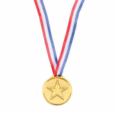1-48 PCS Children Gold Plastic Winners Medals Sports Day Party Bag Awards Toys 3