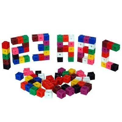 All Link Cubes 2cm 100p Maths Teacher Resource Linking Interlocking Snap 3D 2