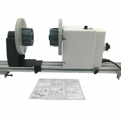 Pro 54'' 64'' 74'' Auto Media Take up Reel System Paper Pickup Roller with Motor 2