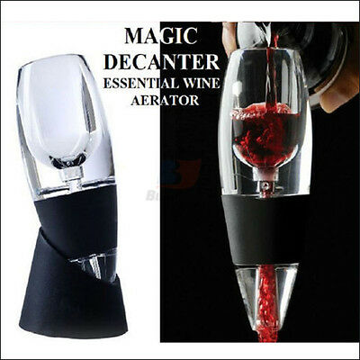 1X 2X 5X 8X 10X Magic Decanter Essential RED Wine Aerator and Sediment Filter 9
