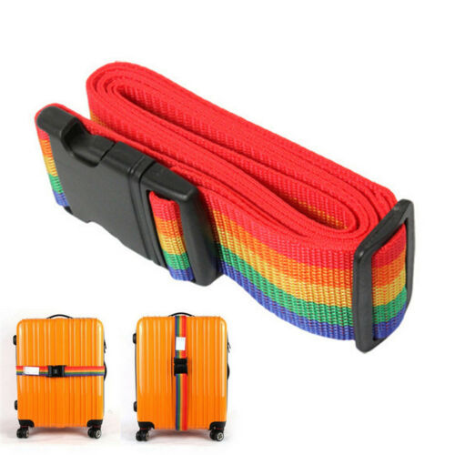 Adjustable Personalise Travel Luggage Suitcase Lock Safe Belt Strap Baggage Tie& 2