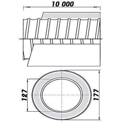 Aluflexschlauch Lüftungsrohr Belüftungsrohr gedämmt dalap Alitsono Ø125/10m 8516