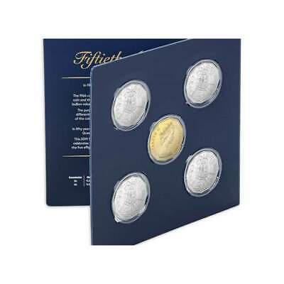 2019 50c Uncirculated Five Coin Set with a Gold Plated Coin - 50th Anniversary 3