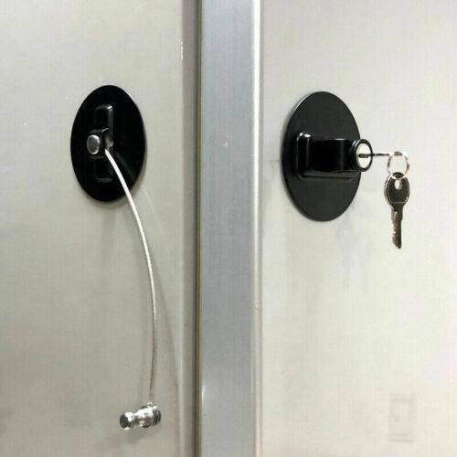 Child Safety Lock Window Kids Securitys Refrigerator Door Lock Limit with-Key US 3