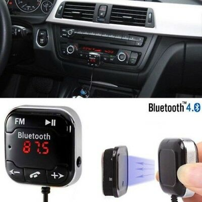 Bluetooth Car Charger Wireless LCD MP3 Player FM Transmitter Radio USB Magnet 2