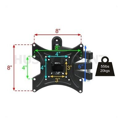 Full Motion TV Wall Mount Articulating 24 32 37 39 40 Inch LED LCD Flat Screen 7