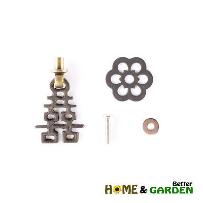 Chinese Antique Brass Drawer Knob Handle (Happiness, Vintage Dresser Pull)