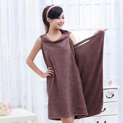 Mujer Chica Albornoz Bata Toalla Microfibra super absorbente Secado baño