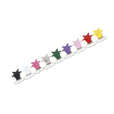 5Pcs Baby Star Metal Suspenders Clips Soothers Holder Dummy Pacifier Clip RASK 3