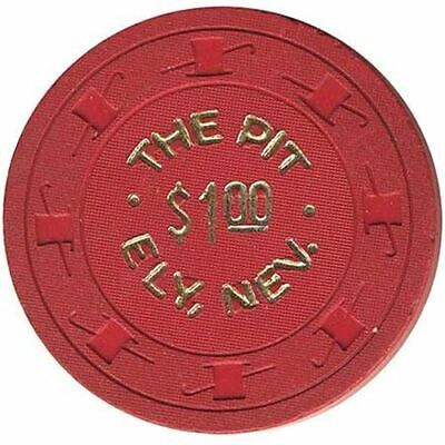 The Pit Casino Ely NV $1 Chip 1950s 2