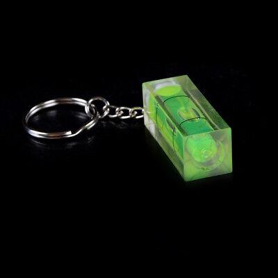 Mini burbuja nivel llavero llave herramienta DIY anillo gadget novedad regalo 6