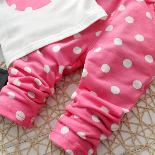 Kinder Kleidung Baby Mädchen Winter Karikatur Sweatshirt Hose 2Tlg Outfit Set 10