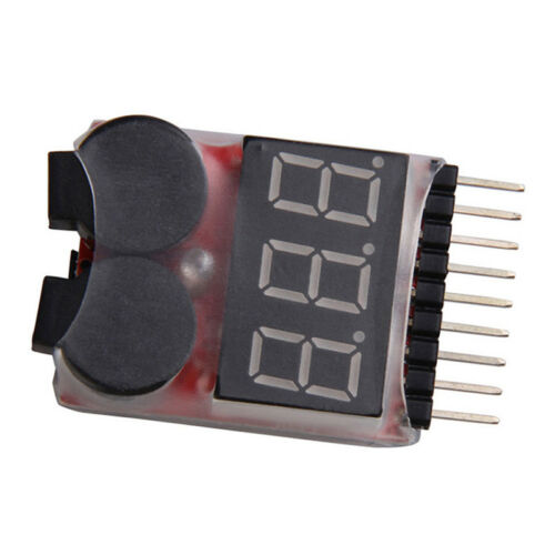 RC Buzzer 1-8S Lipo Alarm Warner Schutz Checker Voltage  Pieper LED Tester R3N3 9