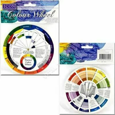 Set Of 2 Pocket Colour Wheel Tool Mixing Paint Learning Artist Kids Guide 3