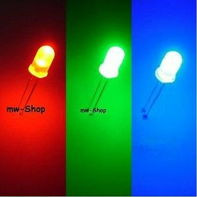 multicolor mehrfarbig 100 RGB Leds 5mm Rot Grün Blau steuerbar 4-Pin Led 3Chip