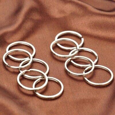 100Pcs Key Rings Chains Split Ring Hoop Metal Loop Steel Accessories 25mm |USA 12