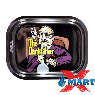 Smoke Arsenal BLUEBERRY KUSH Cigarette Tobacco Metal Small Rolling Tray 7x5