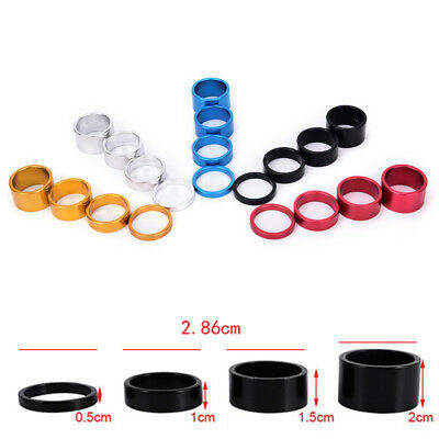 4pcs Bicycle  Spacer MTB Road Bike Headset Washer Front Stem Fork Spacer JE