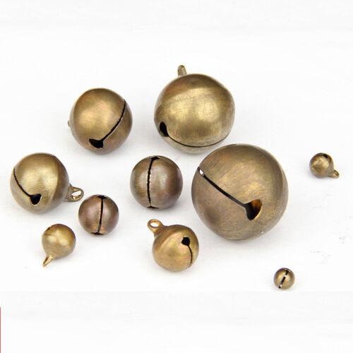 Wholesale Bronze Metal Brass Jingle Bells Pendant Charm Craft Beads Making DIY 4