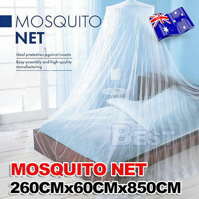 Double Single Queen Canopy Bed Curtain Dome Stopping Mosquito Net Midges Insect 2