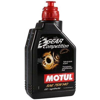 Motul 1Lt Olio Cambio Differenziale Gear Competition 75W140 LSD 100% Sintetico 2